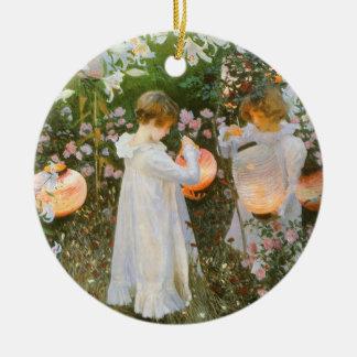 Carnation, Lily, Lily, Rose By John Singer Sargent Ceramic Ornament