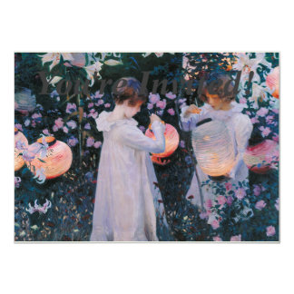 """Carnation, Lily, Lily, Rose by John Singer Sargent 4.5"""" X 6.25"""" Invitation Card"""