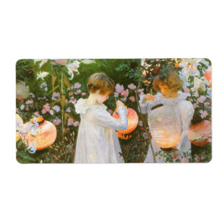 Carnation, Lily, Lily, Rose By John Singer Sargent Shipping Label