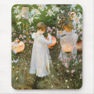 Carnation, Lily, Lily, Rose By John Singer Sargent Mouse Pad