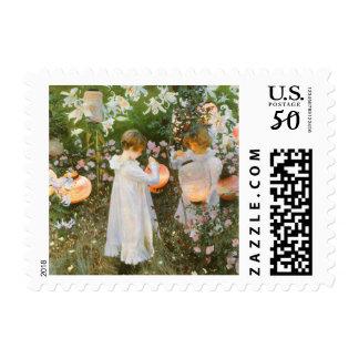 Carnation, Lily, Lily, Rose By John Singer Sargent Postage