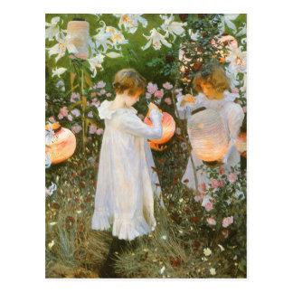 Carnation, Lily, Lily, Rose By John Singer Sargent Postcard