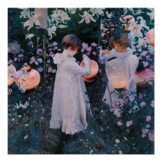 Carnation, Lily, Lily, Rose by John Singer Sargent Perfect Poster