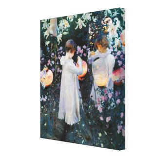 Carnation, Lily, Lily, Rose - John Singer Sargent Canvas Print