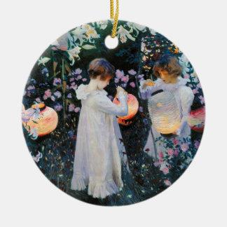 Carnation, Lily, Lily, Rose - John Singer Sargent Ceramic Ornament