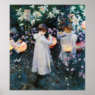 Carnation, Lily, Lily, Rose - John Singer Sargent Poster