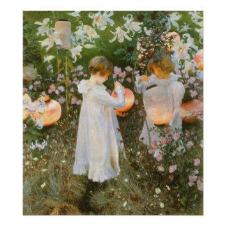 Carnation Lily Lily Rose Sargent Victorian Art Poster