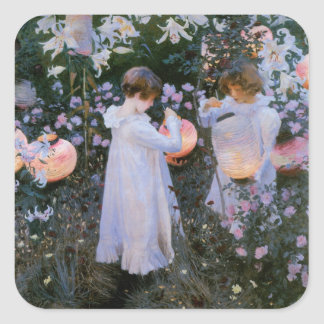 Carnation, Lily, Lily, Rose Square Sticker