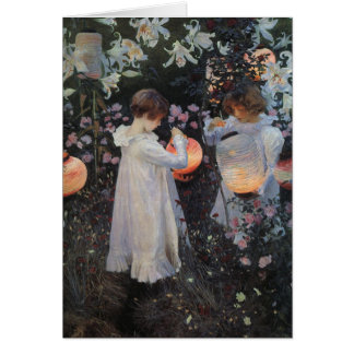 Carnation Lily Rose Sargent Greeting Card