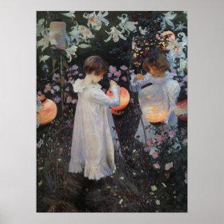 Carnation Lily Rose Sargent Print