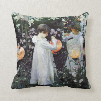 Carnation Lily Rose Throw Pillow