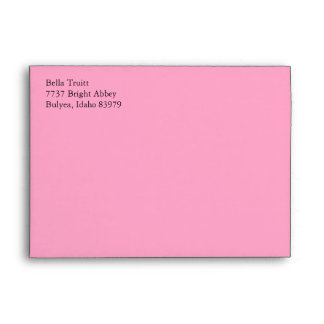 Carnation Pink A7 5x7 Custom Preaddressed Envelope