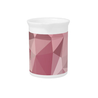 Carnation Pink Abstract Low Polygon Background Drink Pitchers