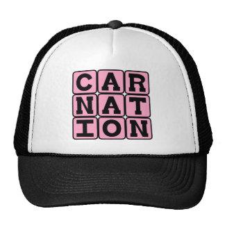 Carnation, Pink Flower Trucker Hat