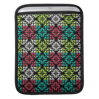carnation pink lime aqua sweet damask squares iPad sleeve