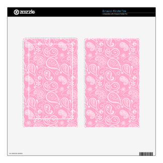 Carnation Pink Paisley Floral Decals For Kindle Fire