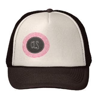 Carnation Pink Paisley; Vintage Chalkboard look Trucker Hat