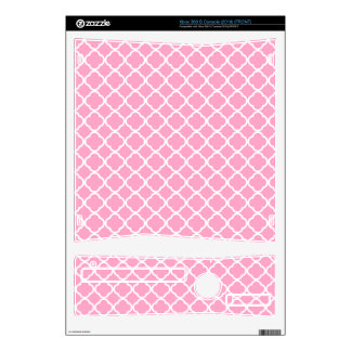 Carnation Pink Quatrefoil Decals For The Xbox 360 S