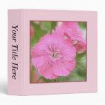 Carnation Pink Sweet Williams Binders