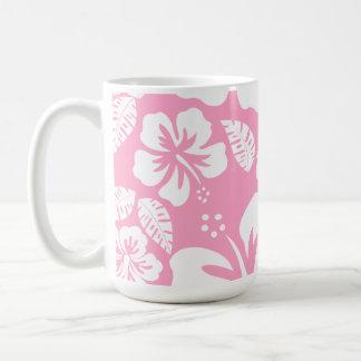 Carnation Pink Tropical Hibiscus Coffee Mug