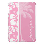 Carnation Pink Tropical Hibiscus; Summer Palm Cover For The iPad Mini