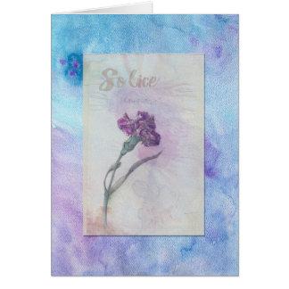 carnation sketch floral sympathy card