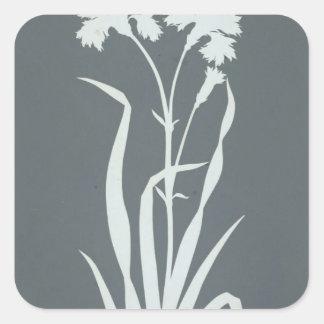 Carnation Square Sticker