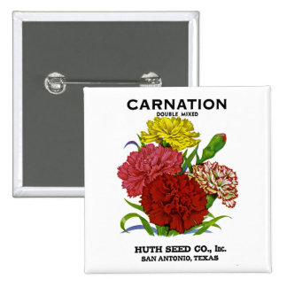 Carnation Vintage Seed Packet Pinback Button