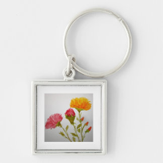 Carnation Water Colour Painting Key Chain