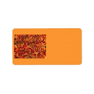 Carnations Address Label