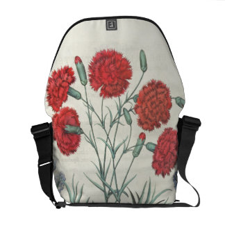 Carnations and Lavender: 1.Caryophyllus maximus pl Courier Bag