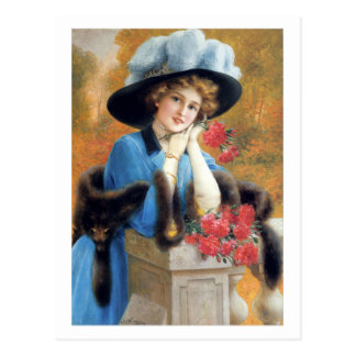 Carnations Are For Love - Émile Vernon Postcard