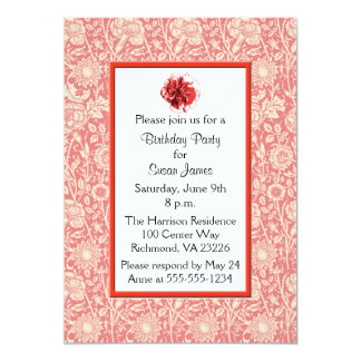 Carnations Birthday Party Card