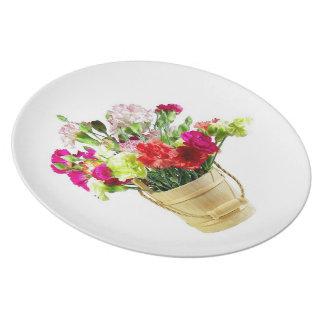 Carnations Bucket Plate