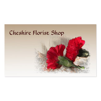 Carnations Florist Business Card Template