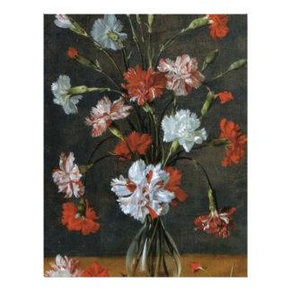 Carnations In A Glass Vase Letterhead