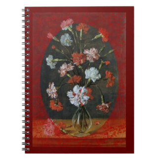 Carnations In A Glass Vase Notebook