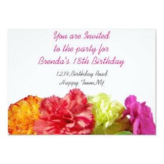 Carnations Invitation Template