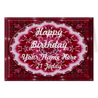 Carnations Kaleidoscope Birthday Card