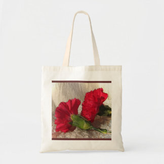 Carnations on Brocade Budget Tote Bag