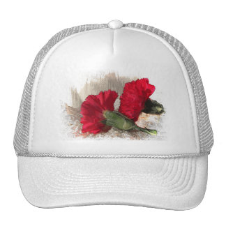 Carnations on Brocade Trucker Hat