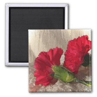 Carnations on Brocade Magnet