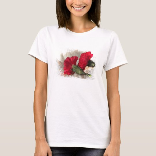 Carnations on Brocade T-Shirt