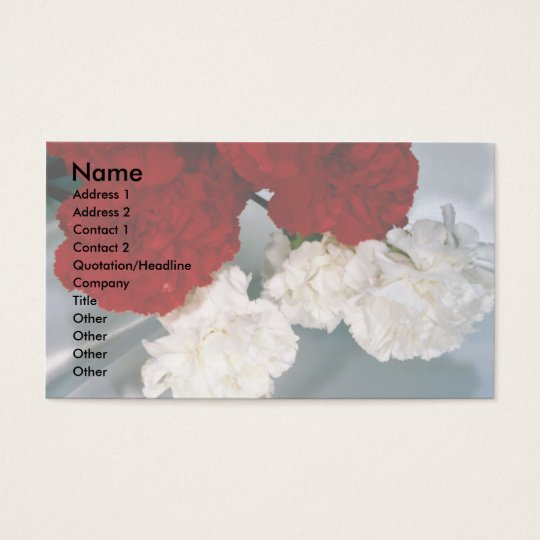 Carnations on silk business card