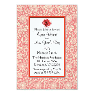 Carnations Open House New Year's Day Invitation