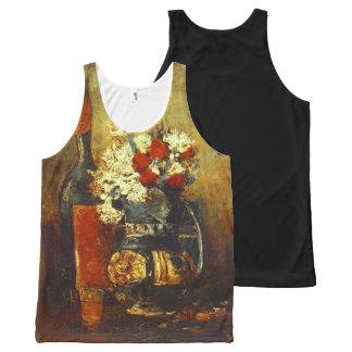 Carnations Roses & Bottle Van Gogh Fine Art All-Over Print Tank Top