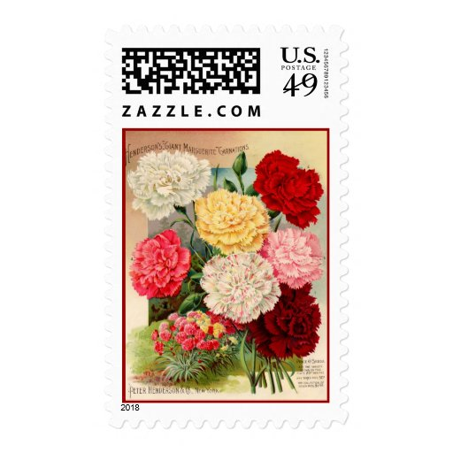 Carnations Seed Packet Postage Stamps
