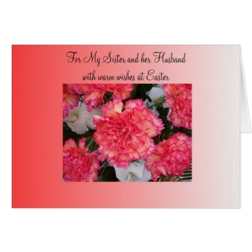 Lawyer Themed Carnations Sister And Husband Easter Card