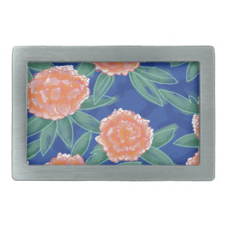 """Carnations"" Vintage Flower Illustration Poster Rectangular Belt Buckle"