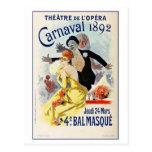 Carnaval 1892 del teatro de la ópera de París del  Postales